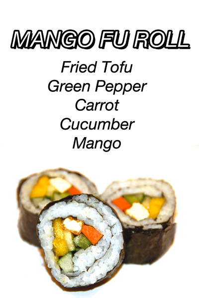 Mango Fu Roll - Fried Tofu Green Pepper Carrot Cucumber Mango