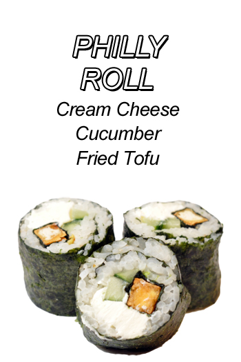 Philly Roll - Cream Cheese Cucumber Fried Tofu